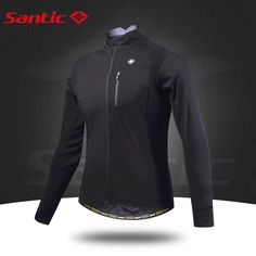 Santic Fit for degree Men Black Bike Cycling Jackets Windproof Bicycle Cycling Clothes Ciclismo Maillot Cycling Clothes, Cycling Outfit, Winter Springs, Wetsuit, Bicycle, Fitness, Swimwear, Jackets, Stuff To Buy