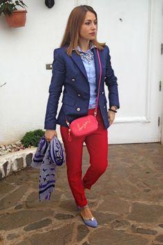 MFABLOG en www.elblogdemonica.es: Rojo y azul celeste/ Red and baby blue