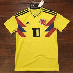 2018 Colombia Home Jersey  10 JAMES Small ADIDAS World Cup Soccer S S NEW  Discount Price 99.00 Free Shipping Buy it Now 9f627ca57