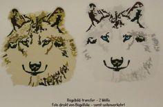 Bügelbilder Wölfe auf A4 -Shirt Transfer, Wolf von ஐღKreawusel-aufgehübscht✂ஐ  auf DaWanda.com