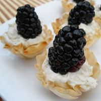Goat Cheese Blackberry and Pear Bites by Cory