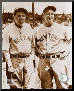 Babe Ruth and Lou Gehrig Photo at AllPosters.com