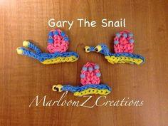 Rainbow Loom: Gary The Snail: How To - http://rainbowloomsale.com/rainbow-loom-gary-the-snail-how-to/