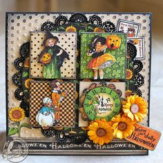 Incredible layering and detail on this beautiful Happy Hauntings card by Arlene Butterflykisses! Love the fussy cut images #graphic45