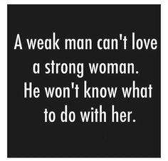 Weak man vs. Strong woman