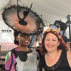 Wow could Milly's hat be any more fabulous what a lovely woman and a real lady @millyzu @ianbennetthats #magicmillions #millinery #fashionsonthefield #racingfashionaustralia #millinerycouture #style #fotf #bespoke #fashionblog