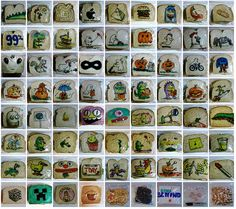 Dad draws on his children's sandwich bags every day for 5 years.
