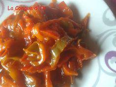 Peperonata ou fondue de poivrons