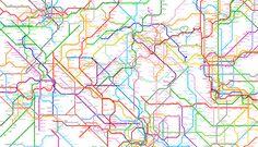 デザイナー集団「ArtCodeData」が、世界の地下鉄をつなぎ合わせた奇抜な路線図「World Metro Map」を作成した。現在、214の地下鉄網と791の路線、1万1,924カ所の駅を網羅しているという。
