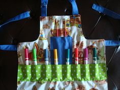 My aprons never look this organized or cute