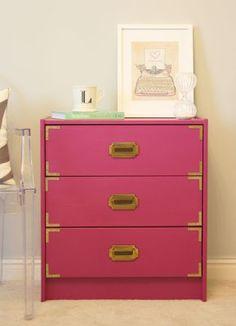 diy, crafty, campaign chest, ikea hack, diy campaign dresser, dresser