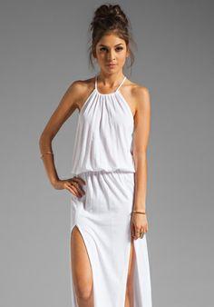BLUE LIFE Two Slit Halter Dress in White at Revolve Clothing