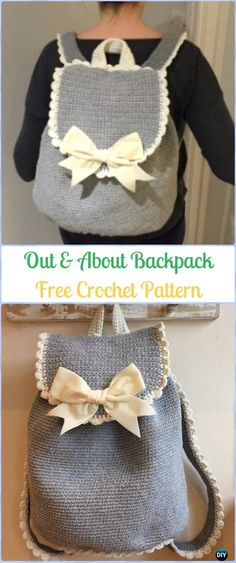 Crochet Out & About Backpack Free Pattern -Crochet Backpack Free Patterns Adult Version