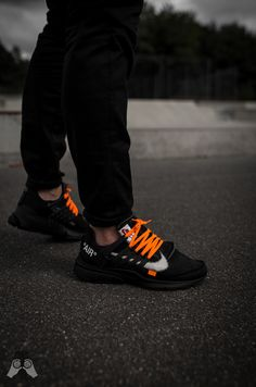 Off-white x Nike Air Priesto by Juampi* Nike Air Presto Schwarz, Nike Air Presto Black, Off White Presto, Nike Presto, White Nike Shoes, Off White Shoes, White Nikes, All Black Sneakers, Nike Fashion