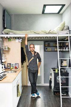 Quarto em cima cozinha embaixo