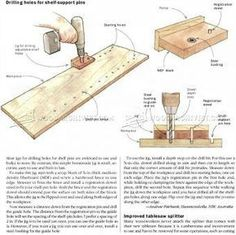 #1809 DIY Shelf Pin Jig - Drill Press Tips, Jigs and Fixtures Other Woodworking Tips and Techniques #woodworkingtips
