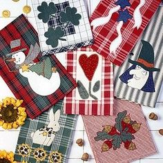 Decorating for the holidays or just sprucing up your home for each new season is easier than ever. Use a bit of machine- or hand-applique to turn purchased dish towels into eye-catching accessories… Applique Towels, Hand Applique, All You Need Is, Fabric Cutting Table, Fabric Shears, Fabric Scissors, Upholstery Fabric Online, Fabric Cutter, Chenille Fabric