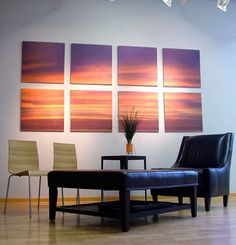Decorating A Living Room With Modern Wall Pictures