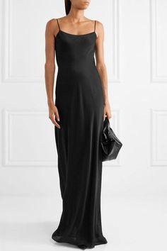 The Row - Mali Silk-charmeuse Maxi Dress - Black