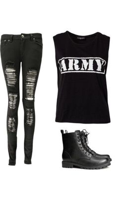 This Is A Cute Outfit ! Something I Would Totally Wear To Warped tour !