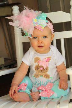 Baby Girl Easter Outfit Hippity Hop by DarlingLittleBowShop, $59.95 @Maegan Gudridge Yadon