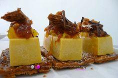 "La tarte citrouille façon Tatin: Pâte feuilletée caramelisée, crème de courge, agrumes.    Pumpkin Pie ""tatin"" style: Caramelized puff pastry, pumpkin cream, citrus    www.ggpatisseriegourmande.com"