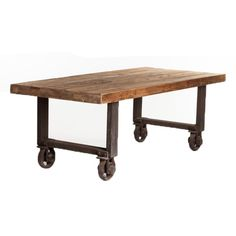 I LOVE this table!!! Aurelle Home Agnes Rustic Antique Reclaimed Solid Wood Dining Table - Brown
