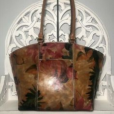 Patricia Nash Michel Dome Tote Spring Multi Floral Leather $269 | eBay Spring Sandals, Patricia Nash, Coin Purse Wallet, Leather Tooling, Tote Bag, Floral, Bags, Handbags, Flowers