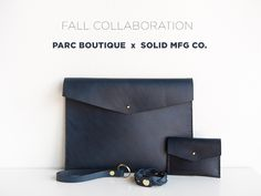Parc Boutique x Solid Mfg. Co Indigo Leather Collection
