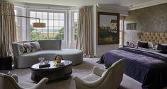 Mid-Century Modern Bedroom in GB by Fiona Barratt Interiors