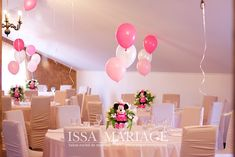 Christening, Minnie Mouse, Table Decorations, Furniture, Design, Home Decor, Decoration Home, Room Decor