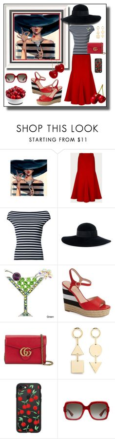 """Cocktails Anyone?"" by shannon-brennan ❤ liked on Polyvore featuring Bally, Michael Kors, Eugenia Kim, Kate Spade, Gucci, Eddie Borgo and Casetify"