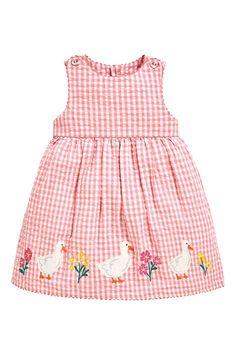 Buy JoJo Maman Bébé Pink Duck Appliqué Dress from the Next UK online shop Fancy Blouse Designs, Stylish Dress Designs, Stylish Dresses, Baby Girl Dress Patterns, Baby Dress, Baby Patterns, Baby Girl Frocks, Frocks For Girls, Toddler Outfits