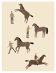 Man & Horse by ErikRiley on Etsy, $20.00