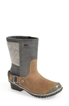 Free shipping and returns on SOREL 'Slimshortie™' Waterproof Boot (Women) at Nordstrom.com. A tough-yet-trendy boot cast in waterproof leather with mixed-media panels makes an ideal companion for icy or snowy commutes.