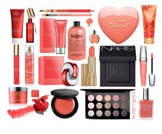 """""""A Coral Beauty"""" by gemique ❤ liked on Polyvore featuring beauty, Molton Brown, Estée Lauder, NARS Cosmetics, MAC Cosmetics, Lancôme, American Apparel, Bobbi Brown Cosmetics, Beautycounter and Bulgari"""