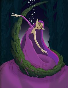 Another color variation for Aquatic Fairy. I love how easy it is to change the colors in Photoshop!