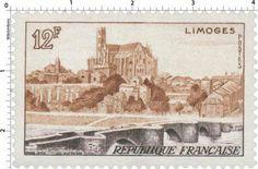 Cathédrale et Pont St-Etienne - Limoges (1955)