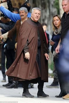 Historic:Dustin Hoffman  The two stars are set to bring alive the story of Giovanni and his son Cosimo's rise to the very centre of Renaissance power and politics as the heads of the influential Medici banking empire
