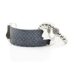 Suede Python Duo - Gray with Silver
