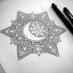 40 Beautiful Mandala Drawing Ideas & How To - Brighter Craft 40 Be. - 40 Beautiful Mandala Drawing Ideas & How To – Brighter Craft 40 Beautiful Mandala D - Mandala Art, Mandala Design, Croquis Mandala, Mandala Arm Tattoo, Moon Mandala, Mandala Doodle, Mandala Drawing, Doodle Art, Colorful Mandala Tattoo