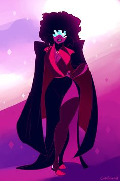 Someone out did Garnet Steven Universe Theories, Greg Universe, Steven Universe Gem, Universe Art, Steven Universe Wallpaper, Black Girl Art, Black Girl Magic, Garnet Fanart, Diamante Rosa Steven Universe