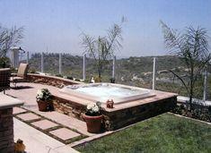 Image result for inground hot tub vaults