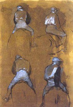 Edgar Degas: Study of Jockeys... not Sargent or da Vinci, but still a great master