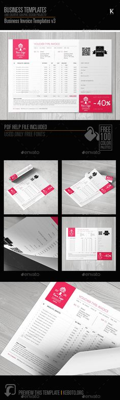 Business Invoice Templates v3 by Keboto Preview this itemhereBusiness Invoice Templates v3Specifications: Software: Adobe InDesignColor Model: CMYKCompatibility: Adobe CS