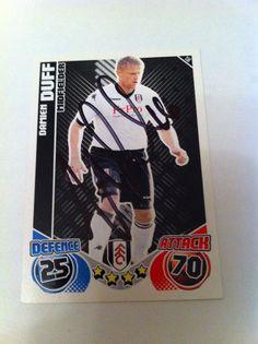 Damien Duff Fulham Footballer Signed Match Attax 2010-11 Trading Card/autograph