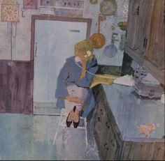 a woman's life in paintings - Bernie Fuchs Fuchs Illustration, Magazine Illustration, Ligne Claire, Traditional Paintings, Art Inspo, Vintage Art, Art Reference, Illustrators, Cool Art