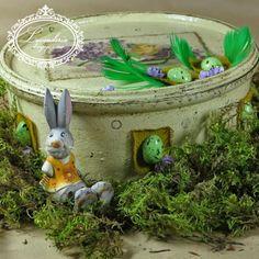 """Lavenderia - decoupage i inne: Wielkanoc """"Pudełko z kurczakami"""""""