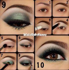 Tendance Maquillage Yeux 2017 / 2018   Maquillage des yeux verts pour les yeux marron  par: Dewi Purnama Sari
