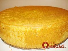 Tento korpus pripravujem už celé roky – je vynikajúci na domáce torty, zákusky a koláče. Jeho jednoznačnou prednosťou je rýchla príprava a lahodná vanilková aróma vďaka pridanému pudingu. Angel Cake, Angel Food Cake, Easy Cake Recipes, Sweet Recipes, Baking Recipes, Sour Cream Cake, Czech Recipes, Sweet Cakes, How Sweet Eats